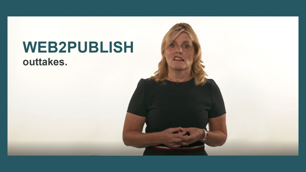 Outtakes der Web-to-Publish Videos